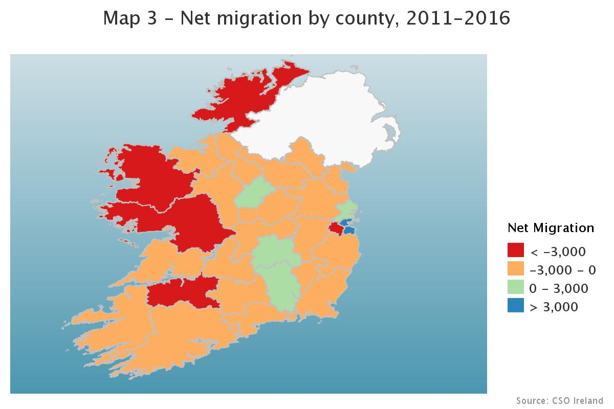 Net migration by county 11-16